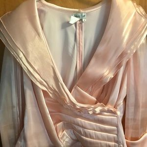 Elegant dressy peach blouse for day / evening wear